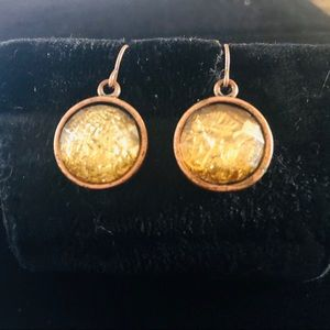 Copper pierced earrings